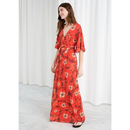 ★&Other Stories★Poppy Print Wrap Dress★レッド★