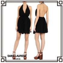 国内発送・関税込SAINT LAURENT DRAPED MINI DRESS