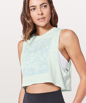 Muscle Love Crop Tank  Expressionクロップ丈タンク*Sea Breeze