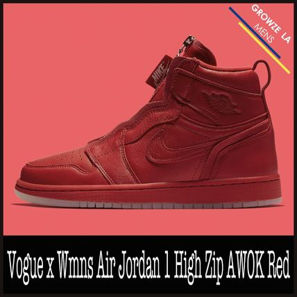 ★【NIKE】追跡 Vogue x Wmns Air Jordan 1 High Zip AWOK Red