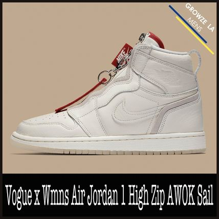 ★【NIKE】追跡 Vogue x Wmns Air Jordan 1 High Zip AWOK Sail