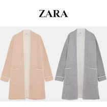 ZARA☆COAT WITH PIPING パイピング入りコート / gray, pink