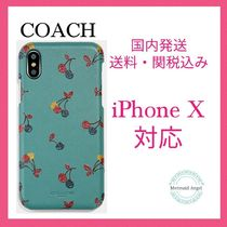 COACH Iphone X Case With Cherry Print