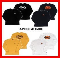 A PIECE OF CAKE(ピースオブケイク) Tシャツ・カットソー ★人気【A PIECE OF CAKE】 ★Oval Logo Longsleeved T-shirts★