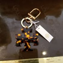 2018AW♪ Tory Burch★ STACKED T TORTOISE KEY FOB