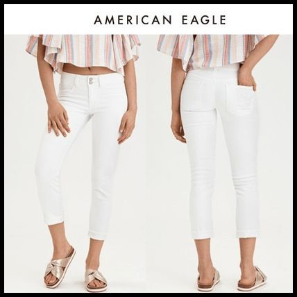 American Eagle Outfitters デニム・ジーパン ☆American Eagle Outfitters☆ コットンデニムクロップパンツ