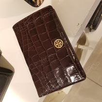 2018AW♪ Tory Burch ★ PARKER EMBOSSED MEDIUM SLIM WALLET