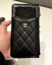 大容量★2018 FALL CHANEL★TIMELESS TC PHONE CASE in BLK