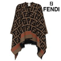 【18AW】★FENDI★beige, black and orange FF logo wool shawl