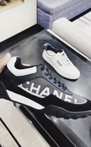 2018 FALL CHANEL 最新作★★LOGO SNEAKER Nylon x Leather
