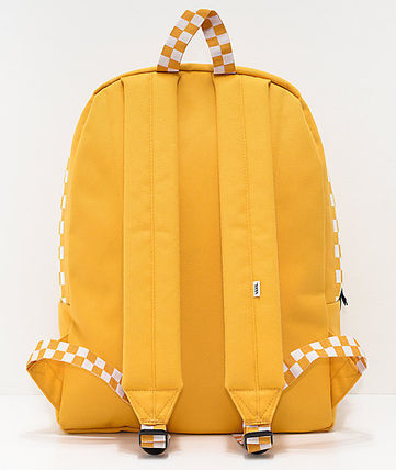 39b01b1fbd ... VANS バックパック・リュック  関税込 VANS  Sporty Realm Yellow Checkerboard Backpack  ...
