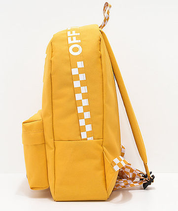 ... VANS バックパック・リュック  関税込 VANS  Sporty Realm Yellow Checkerboard Backpack  ...