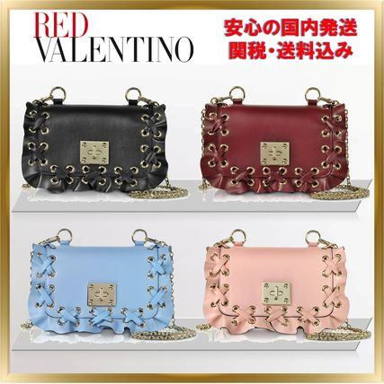◇RED VALENTINO◇Pure Leather Shoulder Bag 【関税送料込】