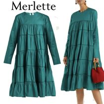 梨花さん愛用ブランド★merlette★gathered cotton midi dress