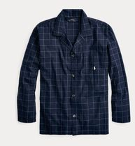 新作★送料関税込★ Windowpane Cotton Pajama Shirt