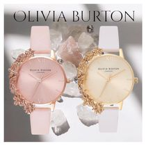 NEW★LADIES OLIVIA BURTON CASE CUFFS WATCH 取り外せるお花★