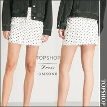 【国内発送・関税込】TOPSHOP★Polka dot denim skirt