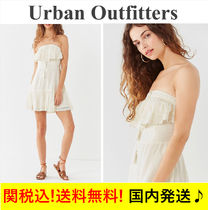 【関税送料込】☆UO☆ Ruffle Halter Mini Dress /Ivory