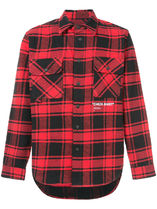 """<< OFF-WHITE >> QUOTE FLANNEL SHIRT """"CHECK SHIRT"""" レッド"""