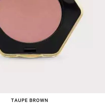 H&M チーク H&M シルクのようなタッチのパウダーチーク【色 Taupe Brown 】(3)