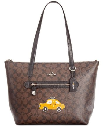 COACH  NY Stories Skyline Signature Taylor Tote セール