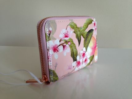 Ted Baker IVY Peach Blossom small zip wallet 即発送 限定一点