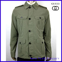 GUCCI★グッチ★素敵! Army Green Soft poly Field Jacket