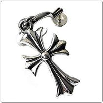 CHROME HEARTS TINY CH CROSS HOOP EARRINGインボイス