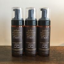 john masters organics men/ 2-in-1 face wash & shave foam