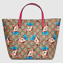 GUCCI★キッズ用GG fawnsトートバッグ