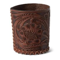 Hand-Tooled Leather Cup