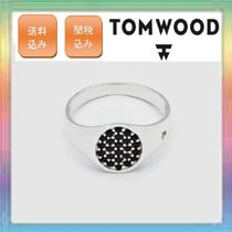 大人気!TOM WOOD Mini Oval Black Spinel ring