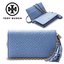 Tory Burch★FLEMING FLAT WALLET CROSS-BODY_46449 407