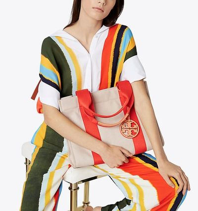 Tory Burch マザーズバッグ セール Tory Burch Miller canvas tote(5)