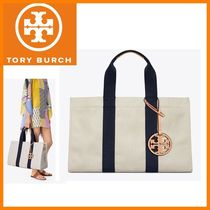 新作★【Tory Burch】MILLER  CANVAS TOTE 大きいトート