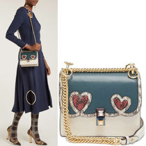 FE2156 HEART EMBELLISHED SMALL KAN I BAG