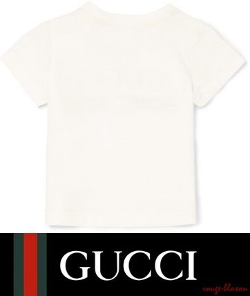 GUCCI ベビー用トップス  【国内発送】Months 3 - 36 printed cotton-jersey T-shirt(3)
