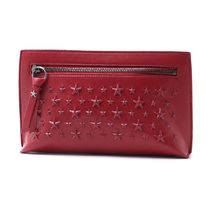 JIMMY CHOO ポーチ coralie-enl-red-r