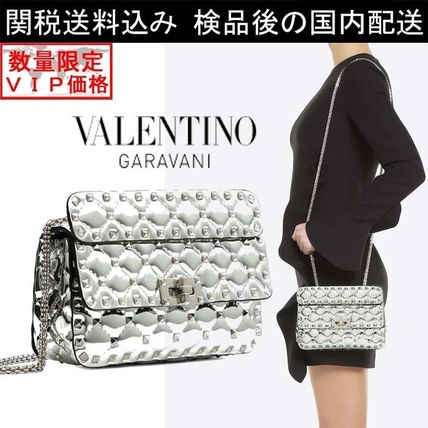 数量限定VIP価格★VALENTINO★SMALL ROCKSTUD SPIKE CHAIN BAG