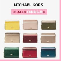 ◆MK◆Mercer Small Color-Block Pebbled Leather Wallet