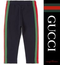 【国内発送】GUCCI Ages 4-12striped cotton-jersey track pants