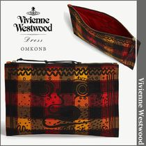 Vivienne Westwood(ヴィヴィアンウエストウッド) メイクポーチ 【国内発送・関税込】Vivienn Westwood★checked canvas pouch