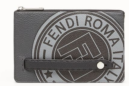 FENDI CALF LEATHER CLUTCH