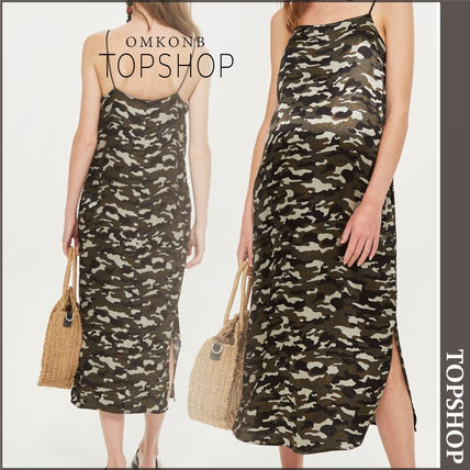 TOPSHOP マタニティワンピース 【国内発送・関税込】TOPSHOP★MATERNITY Camouflage Slip Dress