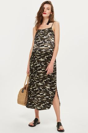 TOPSHOP マタニティワンピース 【国内発送・関税込】TOPSHOP★MATERNITY Camouflage Slip Dress(5)