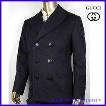 GUCCI★グッチ★素敵!Indigo Wool Pea Coat