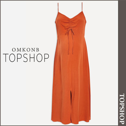 TOPSHOP マタニティワンピース 【国内発送・関税込】TOPSHOP★MATERNITY Ruch Front Midi Dress