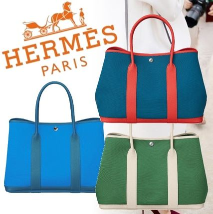 8cc1562a5cf3 HERMES トートバッグ  直営店買付 エルメス レザー バッグ Garden Party 36 新作 ...