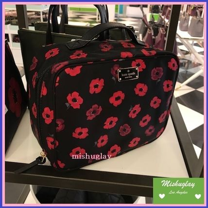 kate spade new york メイクポーチ 【kate spade】素敵♪上品なミニポピー柄★コスメバッグmartie★