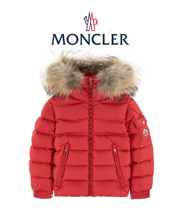 18AW MONCLER New Byron  子供OK 4-10歳  ファーダウン レッド
